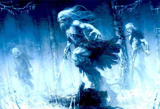 White walkers game of thrones illustration artworks
