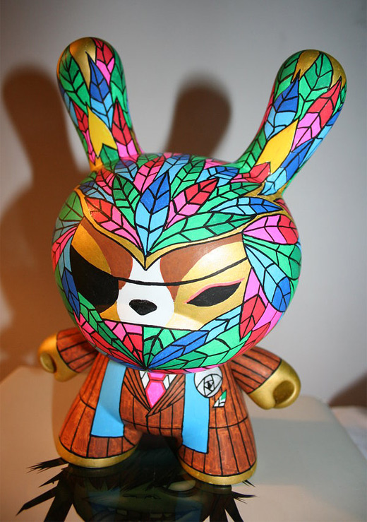 Colorful dunny vinyl toys design