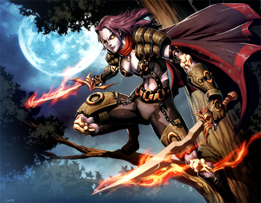 Fire swordsman deathstlalker world of warcraft illustration artworks