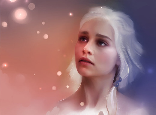 Khali beautiful game of thrones illustration artworks
