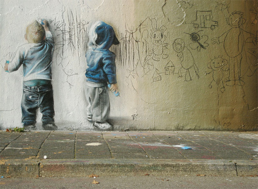 Kids children graffiti artworks collection