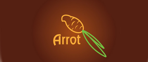 Parrot bird carrot logo design collection