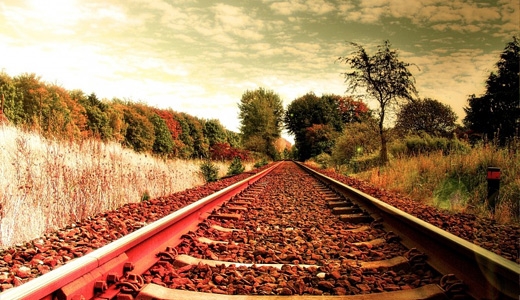 Sunny rocky railroad free download wallpapers