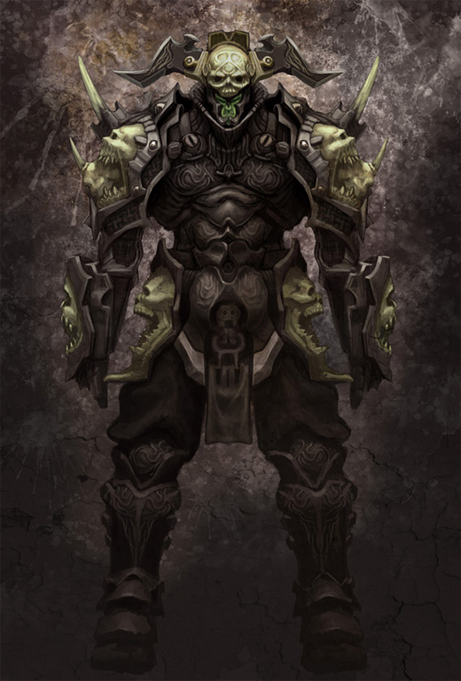 Skull armor awesome world of warcraft illustration artworks