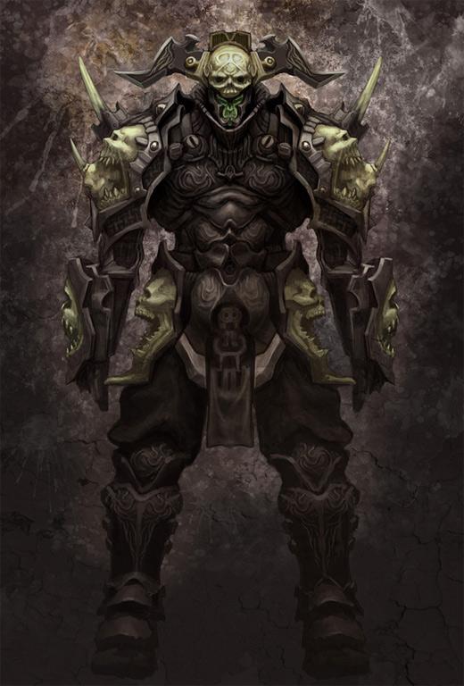 Skull armor awesome world of warcraft illustration artworks