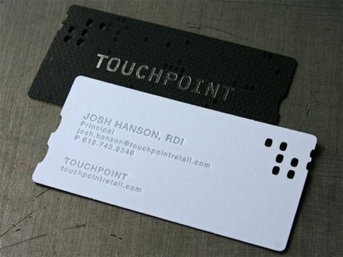 touchpoint business card