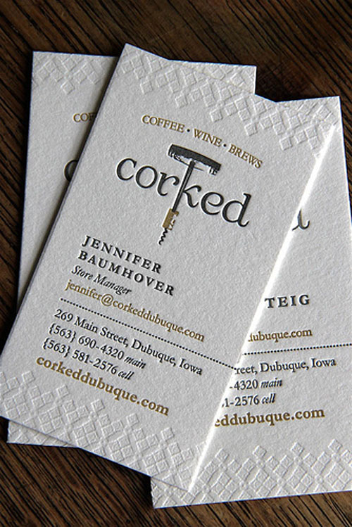 Corked Dubuque Business Card