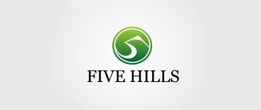 Green mountain logo design collection