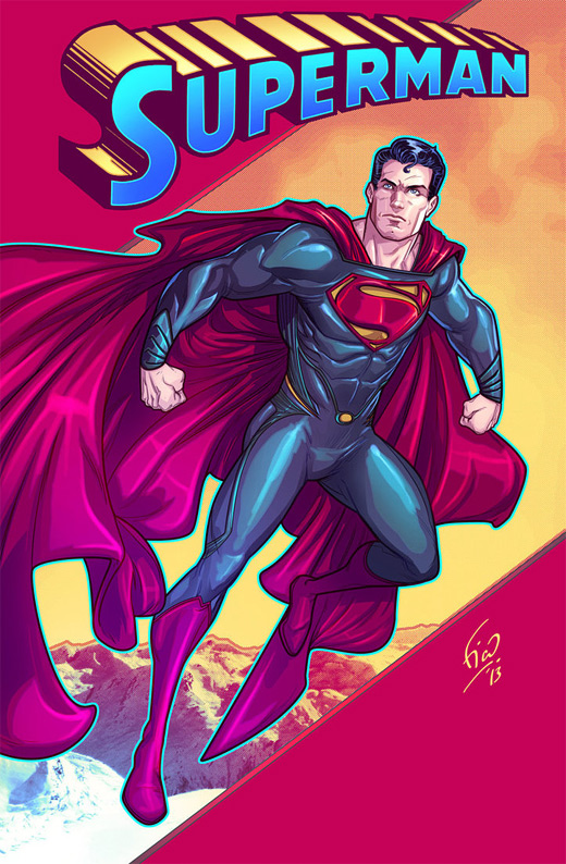 Head face superman man of steel fan art illustration artworks