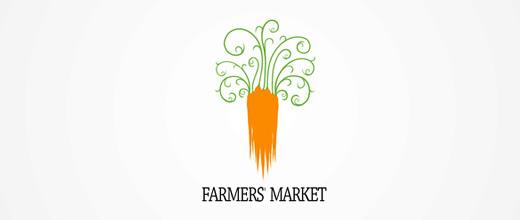 Weird carrot logo design collection