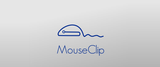 Computer mouse paper clip logo design collection