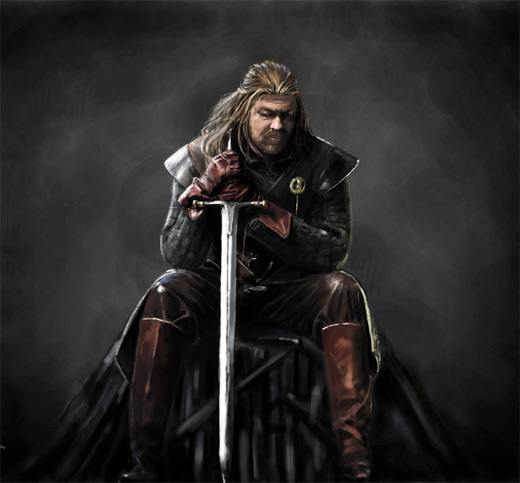Eddard game of thrones illustration artworks
