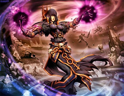 Dark mage donna world of warcraft illustration artworks