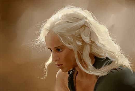 Khaleesi game of thrones illustration artworks