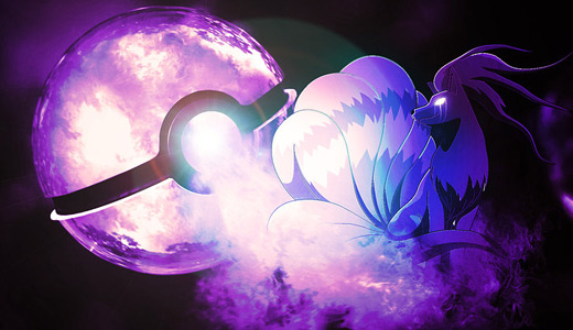 Purple ninetails pokeball designs wallpapers free download