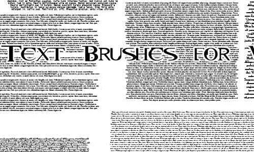 Tiny Text Brushes Wallpapers