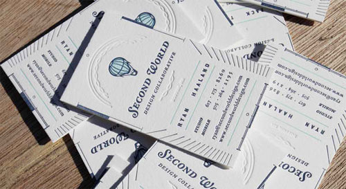Second World Business Card