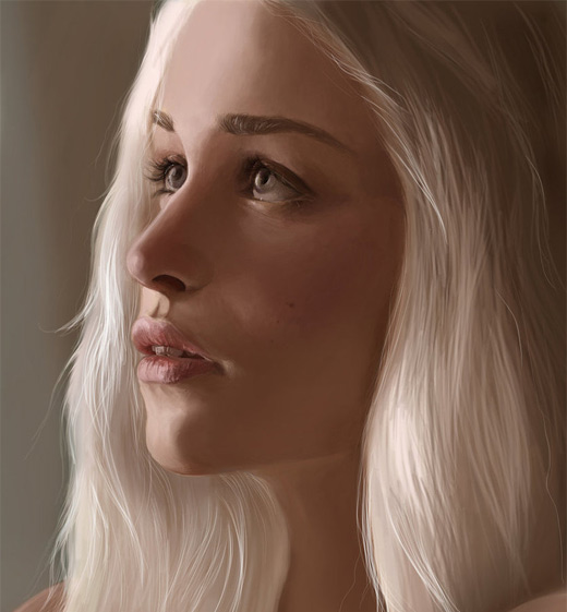 Beautiful daenerys game of thrones illustration artworks