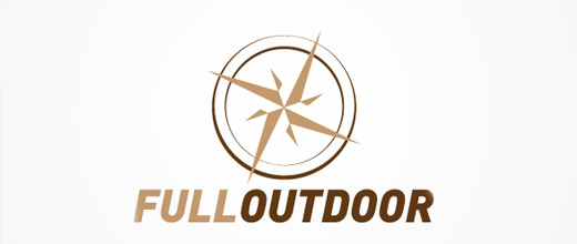 Brown outdoor compass logo design collection