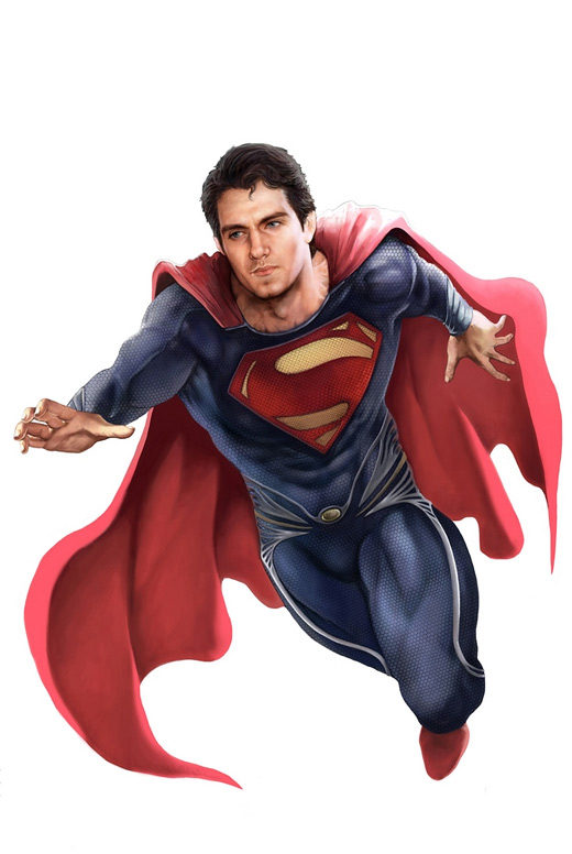 Handsome superman man of steel fan art illustration artworks