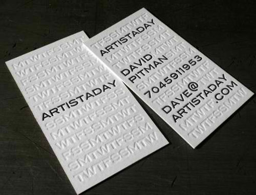 Artistaday Business Card