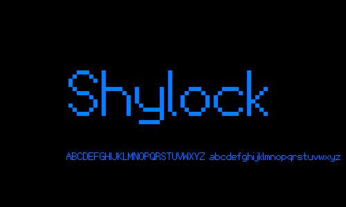 Shylock NBP font