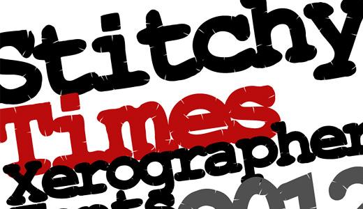 Stuffed stitch fonts free download