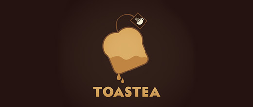 Tea sliced bread logo designs collection