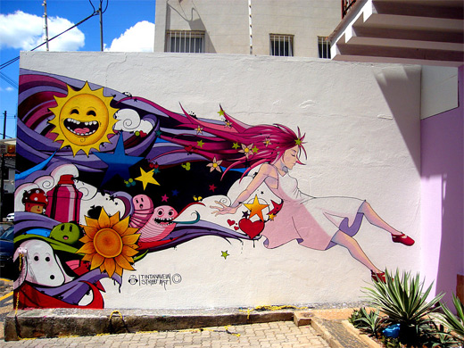 Anime graffiti artworks collection