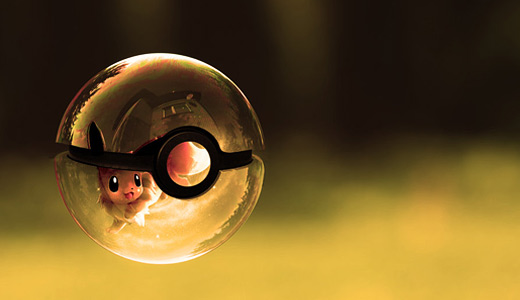 Eevee yellow pokeball designs wallpapers free download