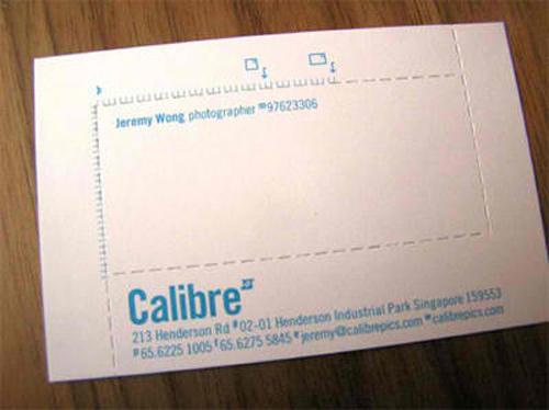calibre business card