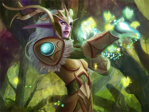Light guardian world of warcraft illustration artworks