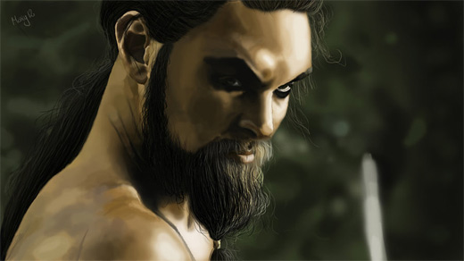 Khal drogo game of thrones illustration artworks