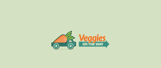 Truck vehicle delivery carrot logo design collection