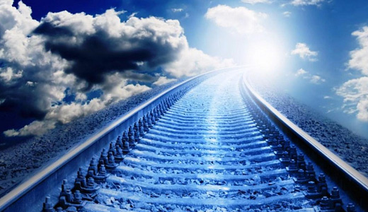 Blue heaven sky railroad free download wallpapers