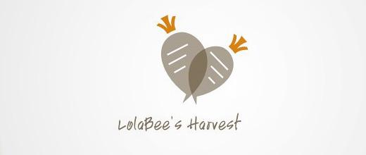 Food carrot logo design collection