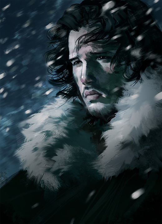 Jon snow game of thrones illustration artworks
