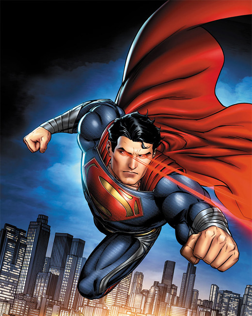 Laser eyes flying superman man of steel fan art illustration artworks