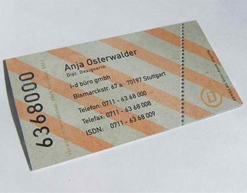 Business Card for: Anja Osterwalder