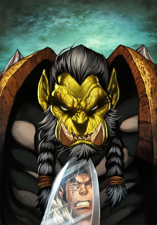 Orc hair world of warcraft illustration artworks