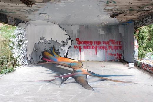 Tree cut down graffiti artworks collection