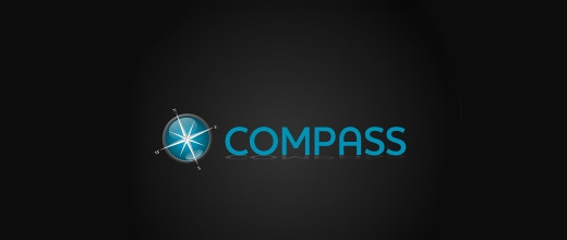 Blue compass logo design collection