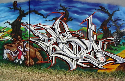 Bull dog graffiti artworks collection