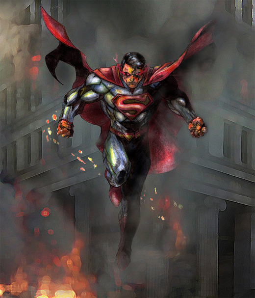 Caricature superman man of steel fan art illustration artworks