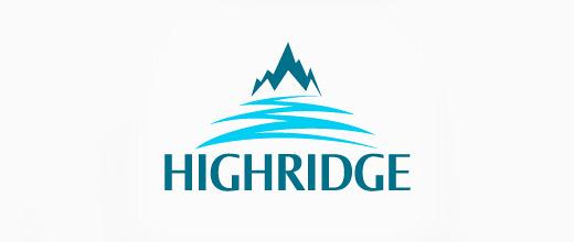 River mountain logo design collection