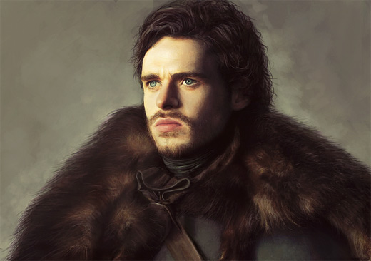 Robb stark game of thrones illustration artworks