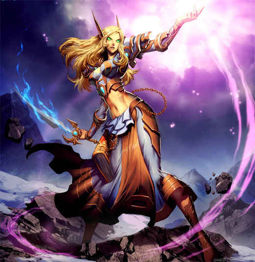 Siaranna mage magician world of warcraft illustration artworks