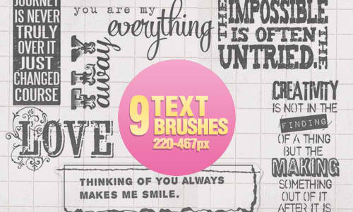Text Brushes - 1104