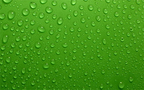 Green water drops wallpaper
