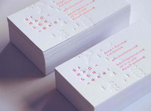 Corporate Identity Letterpress business card